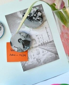 Make Easy Photo Magnets With Cork .  Free tutorial with pictures on how to make a photo magnet in under 61 minutes by decorating with cork tiles, craft paint, and magnets. How To posted by Anima P.  in the Art section Difficulty: 3/5. Cost: Cheap. Steps: 6