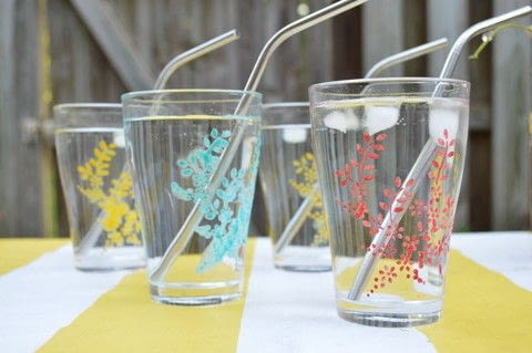 Make Summer Ready Drinkware .  Free tutorial with pictures on how to make a glass in under 90 minutes by decorating with glassware, glass paint, and stencil. How To posted by Anima P.  in the Decorating section Difficulty: Simple. Cost: Cheap. Steps: 4