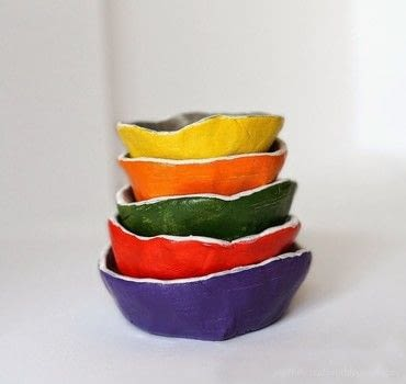 Air dry clay jewelry dishes .  Free tutorial with pictures on how to make a clay bowl in 5 steps by potting and molding How To posted by Anna Spathari.  in the Other section Difficulty: Simple. Cost: Absolutley free.