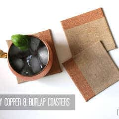 Copper & Burlap Coasters