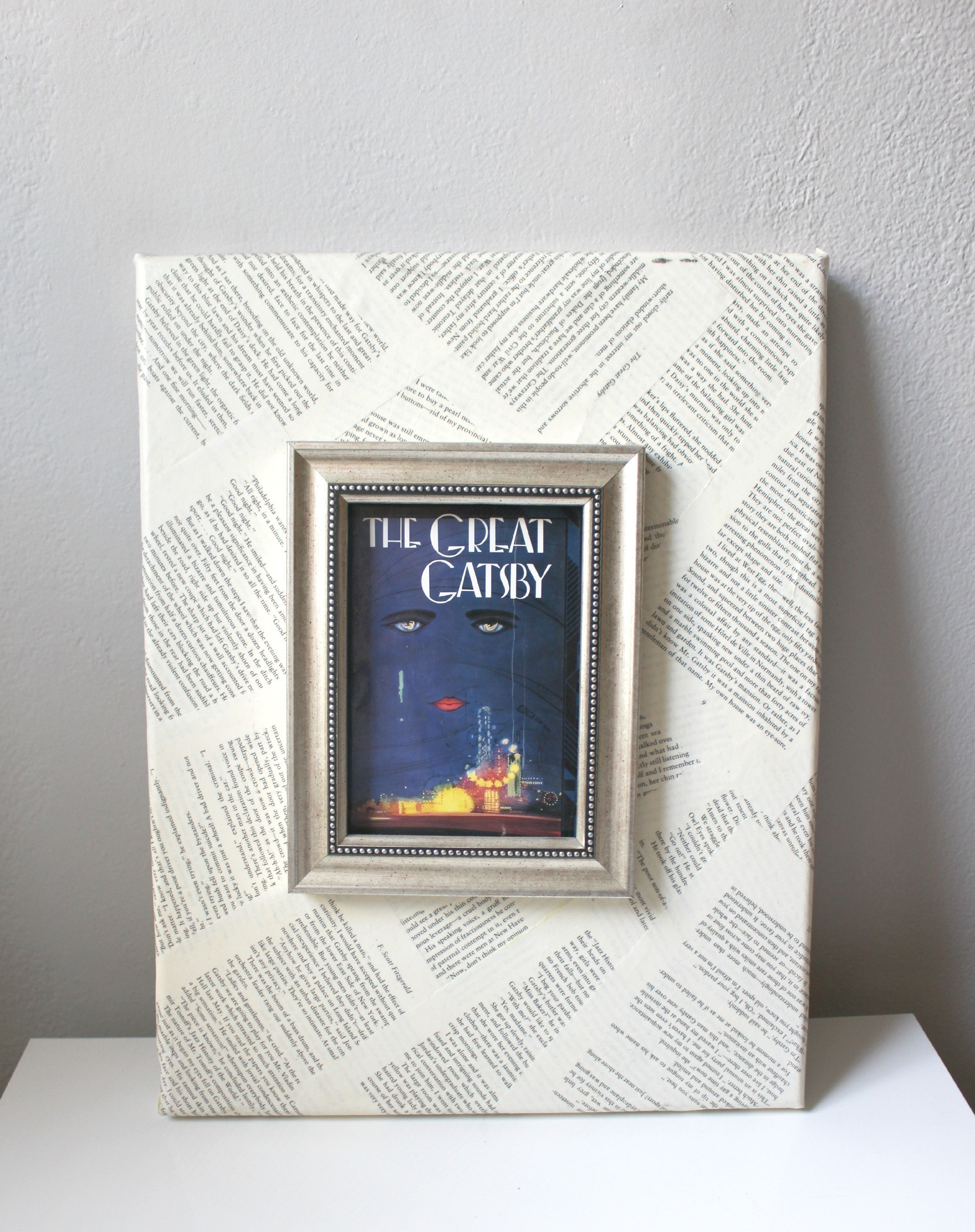 Book Page Canvas · How To Decorate A Canvas · Art on Cut Out + Keep