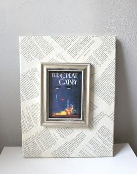 Turn your favorite books into works of art.  .  Free tutorial with pictures on how to decorate a canvas in under 120 minutes by decorating with canvas, decoupage glue, and hot glue gun. How To posted by The Garsow Twins.  in the Art section Difficulty: 3/5. Cost: 3/5. Steps: 5