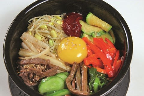 Maangchi's Real Korean Cooking .  Free tutorial with pictures on how to cook a bibimbap in under 60 minutes by cooking with steak, soy sauce, and honey. Inspired by korean. Recipe posted by Houghton Mifflin Harcourt.  in the Recipes section Difficulty: Simple. Cost: Cheap. Steps: 11