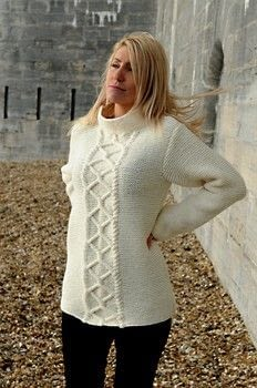 .  Free tutorial with pictures on how to make a sweater or cardigan in under 45 minutes by yarncrafting and knitting with needles, cable needle, and aran yarn. How To posted by Jody Long.  in the Yarncraft section Difficulty: Simple. Cost: No cost. Steps: 4