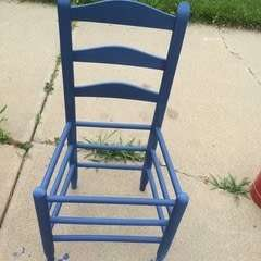 Milk Painted Ladder Back Chair