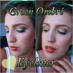 Green Ombre Eyeliner