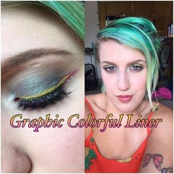 Want to have fun with your eyeliner?! .  Free tutorial with pictures on how to create a dramatic eye makeup look in under 5 minutes by applying makeup and applying makeup with eyeshadow and eyeliner. How To posted by awesomebrittnie .  in the Beauty section Difficulty: 3/5. Cost: Cheap. Steps: 1