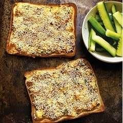 Grilled Sesame Prawn Toasts