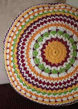 Use your yarn leftovers .  Free tutorial with pictures on how to stitch a knit or crochet cushion in 2 steps by yarncrafting and crocheting with cotton yarn, pillow, and crochet hook. How To posted by Daniela S.  in the Yarncraft section Difficulty: 3/5. Cost: Cheap.