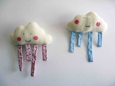 A softy and lovely gift for a baby .  Free tutorial with pictures on how to make a shape plushie in under 90 minutes by sewing with flannel, bias binding, and felt. Inspired by clouds. How To posted by Maria P.  in the Needlework section Difficulty: Simple. Cost: Cheap. Steps: 7