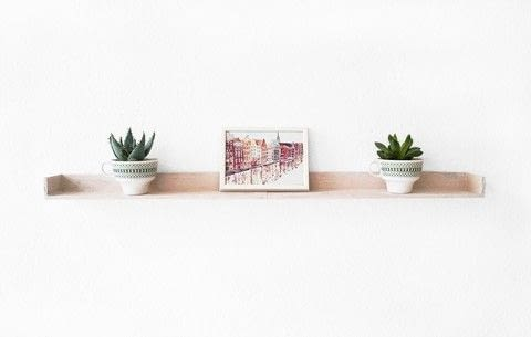 From a tray to a shelf  .  Free tutorial with pictures on how to make a wall shelf in under 130 minutes by constructing and woodworking with saw, sand paper, and clamps. How To posted by Ronja Lotte.  in the Home + DIY section Difficulty: Simple. Cost: Absolutley free. Steps: 6