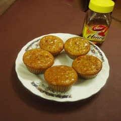Tasty Carrot & Honey Coated Cupcakes