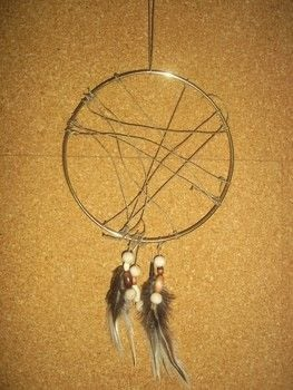 Make your dreams come true! .  Free tutorial with pictures on how to make a dream catcher in under 45 minutes by decorating with metal ring, twine, and beads. How To posted by Ashley P.  in the Other section Difficulty: Easy. Cost: Cheap. Steps: 6