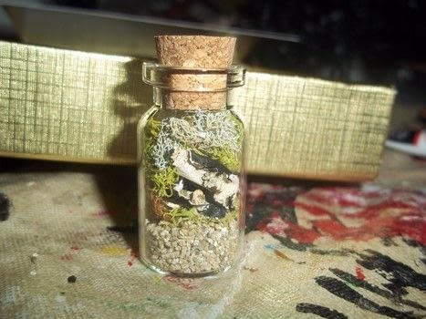 Little garden! .  Free tutorial with pictures on how to make a terrarium in under 2 minutes by jewelrymaking with vilene, sand, and plants. How To posted by Ashley P.  in the Other section Difficulty: Easy. Cost: 3/5. Steps: 2