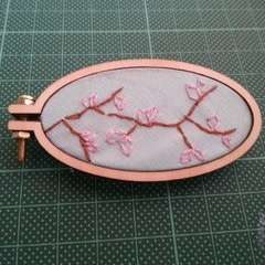 Mini Embroidery Hoop Brooch