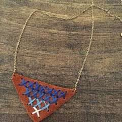 Ombre Embroidered Necklace