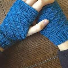 Lattice Knit Wrist Warmers
