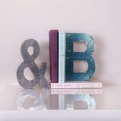 Rhinestone Letter Bookends