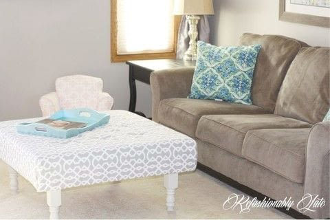 .  Free tutorial with pictures on how to make a stool in 6 steps by sewing and upholstering with coffee table, paint, and painting. How To posted by Ruthie T.  in the Home + DIY section Difficulty: 3/5. Cost: Cheap.
