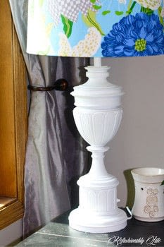 DIY Lamp Revamp .  Free tutorial with pictures on how to make a lamp / lampshade in under 120 minutes by decorating and embellishing with spray paint, primer, and fabric. How To posted by Ruthie T.  in the Decorating section Difficulty: Easy. Cost: Absolutley free. Steps: 3