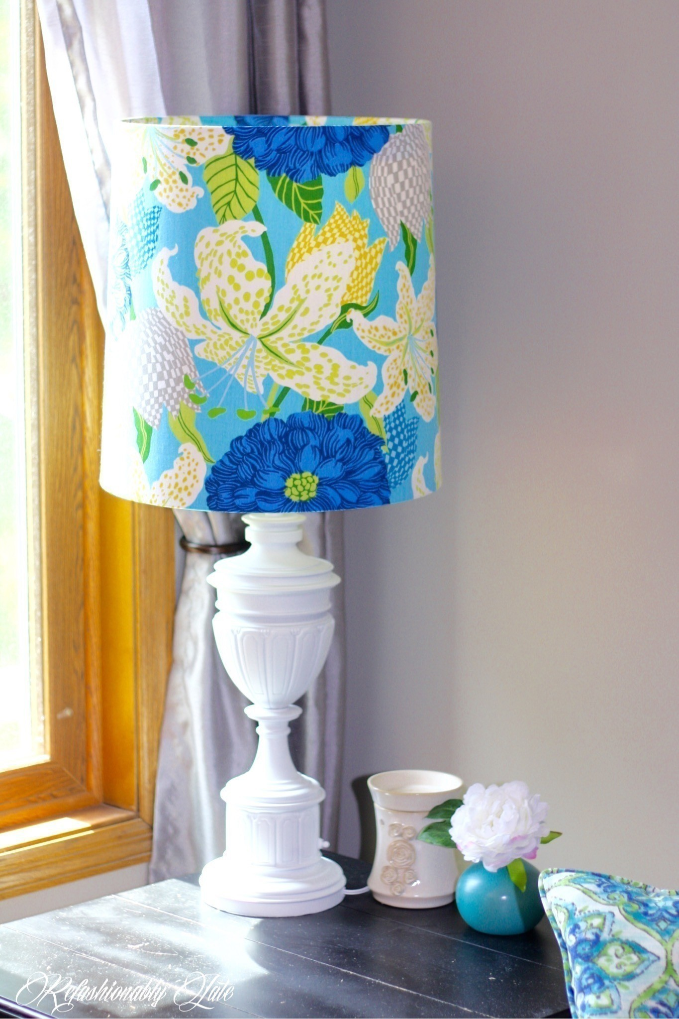 Diy Lamp Revamp · How To Make A Lamp / Lampshade ... The Art Of Getting By Drawings