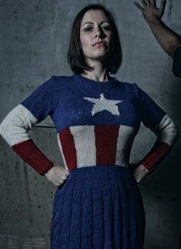 Geek Knits .  Free tutorial with pictures on how to stitch a knit or crochet dress in 9 steps by knitting with yarn, circular knitting needles, and knitting needles. Inspired by costumes & cosplay and captain america. How To posted by St. Martin's Press.  in the Yarncraft section Difficulty: 3/5. Cost: 3/5.