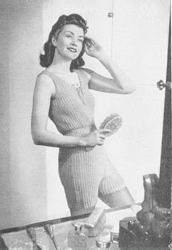 SMART - WARM - SENSIBLE  .  Free tutorial with pictures on how to make pyjamas / a nightie in 10 steps by knitting with wool, knitting needles, and crochet hook. Inspired by vintage & retro. How To posted by Osprey Publishing.  in the Yarncraft section Difficulty: Simple. Cost: Cheap.