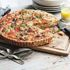 Chia Seed Quiche With Trout & Potato