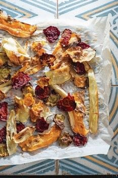 Eat The Week .  Free tutorial with pictures on how to cook vegetable crisps in under 10 minutes by cooking and baking with parsnips, beetroot, and sweet potato. Recipe posted by Murdoch Books.  in the Recipes section Difficulty: Simple. Cost: Cheap. Steps: 3