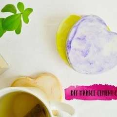 Diy Marble Cement Coasters