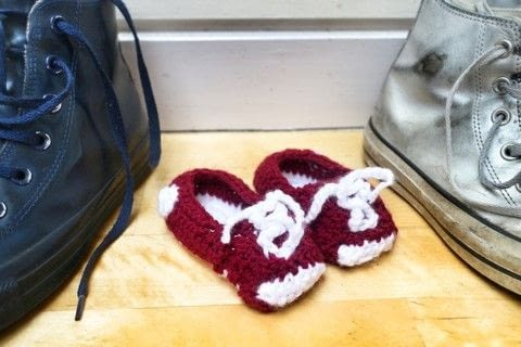 Crochet Baby Converse How To Make A Baby Booties Yarncraft On