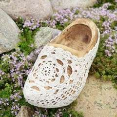 Crochet Covered Wooden Shoe