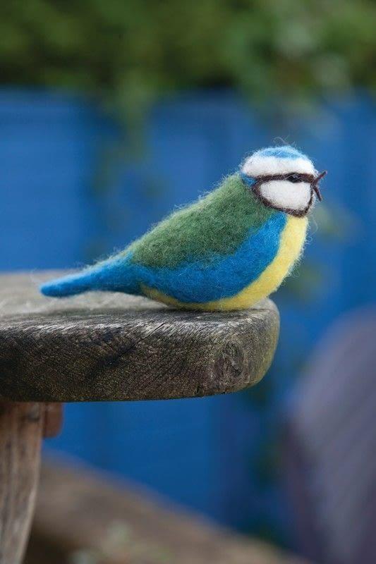 Needle Felt Blue Tit 183 How To Make A Bird Plushie