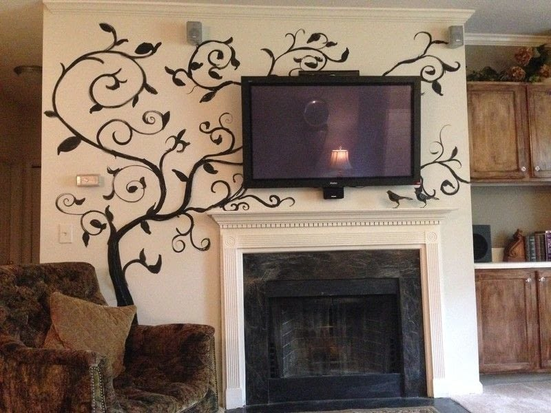 vanishing vines concealment for tv cables how to make wall decor decorating on cut out keep. Black Bedroom Furniture Sets. Home Design Ideas