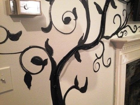 Conceal your TV Cables and Cords .  Free tutorial with pictures on how to make wall decor in under 60 minutes by drawing and decorating with cable ties, acrylic paint, and screws. How To posted by BarryBelcher.  in the Decorating section Difficulty: Easy. Cost: Absolutley free. Steps: 6