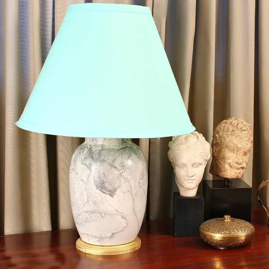 Marbled Thrift Store Lamp · How To Make A Lamp / Lampshade