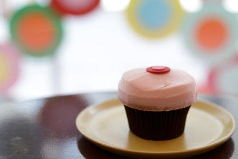 Bake some Strawberry Cupcakes With Sprinkles Cupcakes .  Free tutorial with pictures on how to bake a berry cupcake in under 45 minutes by cooking and baking with strawberries, all purpose flour, and baking powder. Recipe posted by A Bite To Eat.  in the Recipes section Difficulty: Simple. Cost: Cheap. Steps: 8