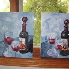 Fine Wine Painting
