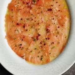 Cured Salmon With Maple And Pink Pepper