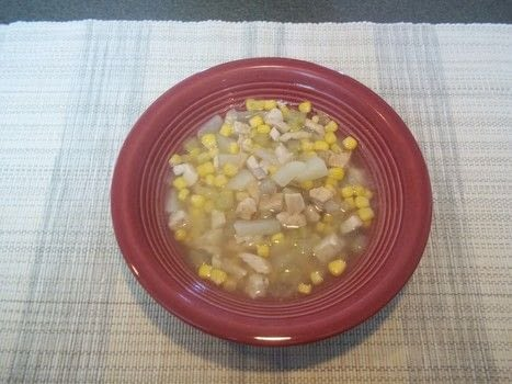 Don't be chicken- try it! .  Free tutorial with pictures on how to cook chicken soup in under 30 minutes by cooking with corn, celery, and onion. Recipe posted by Ashley P.  in the Recipes section Difficulty: Easy. Cost: Cheap. Steps: 5