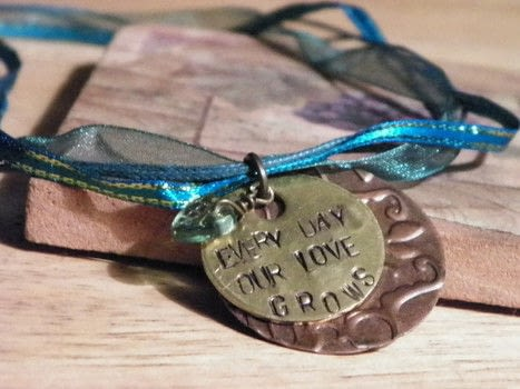 This was a fun and simple project to do! .  Free tutorial with pictures on how to make a ribbon necklace in under 90 minutes by beading and stamping with sheer ribbon, ribbon, and cord. How To posted by Katrina C.  in the Jewelry section Difficulty: Simple. Cost: 3/5. Steps: 11