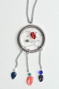 Wire dream catcher necklace how to make a dream catcher pendant a new take on an old classic free tutorial with pictures on how to aloadofball Choice Image