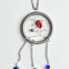 Wire Dream Catcher Necklace