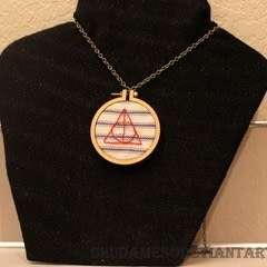Dandelyne Tiny Hoop Deathly Hallows Necklace