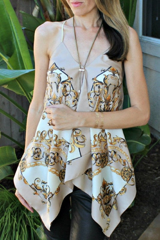DIY: A Scarf Halter Top · How To Make A Strapless Top ...