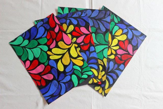 Diy Batik Table Mats 183 How To Make A Placemat 183 Papercraft