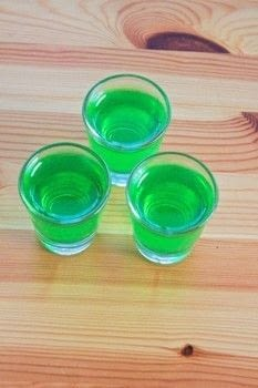 Adventure Time themed jell-o shots!  .  Free tutorial with pictures on how to make a shot in 1 step by mixing drinks with jello, tequila, and triple sec. Recipe posted by MagicalGirlMaya.  in the Recipes section Difficulty: Easy. Cost: Absolutley free.