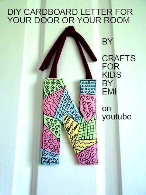 Make A Cardboard Letter For Home Decoration. How to make plaques   signs   Craft tutorials and inspiration