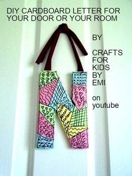 DIY Cardboard Letters for a wall hanging, place inside a wreath, etc. .  Free tutorial with pictures on how to make a letter in under 60 minutes by collage and decoupaging How To posted by Emi H.  in the Art section Difficulty: Easy. Cost: No cost. Steps: 3