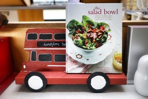 """Be """"driven"""" to cook more with an adorable retro Routemaster Bus Cookbook Holder! .  Free tutorial with pictures on how to make a recipe holder in under 120 minutes by decorating and woodworking with scissors, paint, and paint brush. Inspired by london. How To posted by Cat Morley.  in the Decorating section Difficulty: Simple. Cost: Cheap. Steps: 18"""